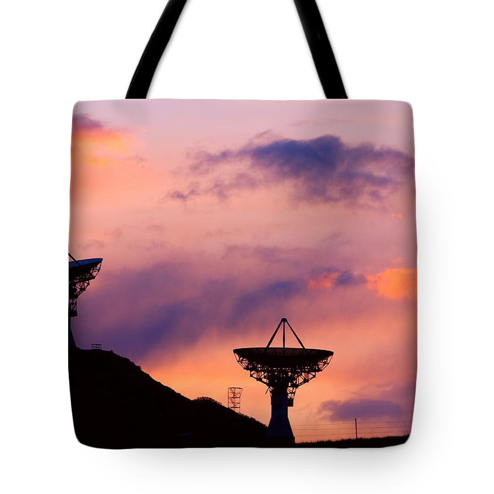Antenna Tote Bag featuring the photograph Communication Sunset by James BO Insogna