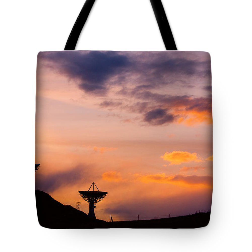 Antenna Tote Bag featuring the photograph Communications To The Stars by James BO Insogna