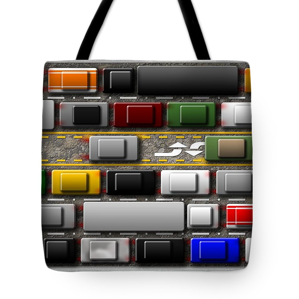 Abstract Tote Bag featuring the digital art Commuter by James Kramer