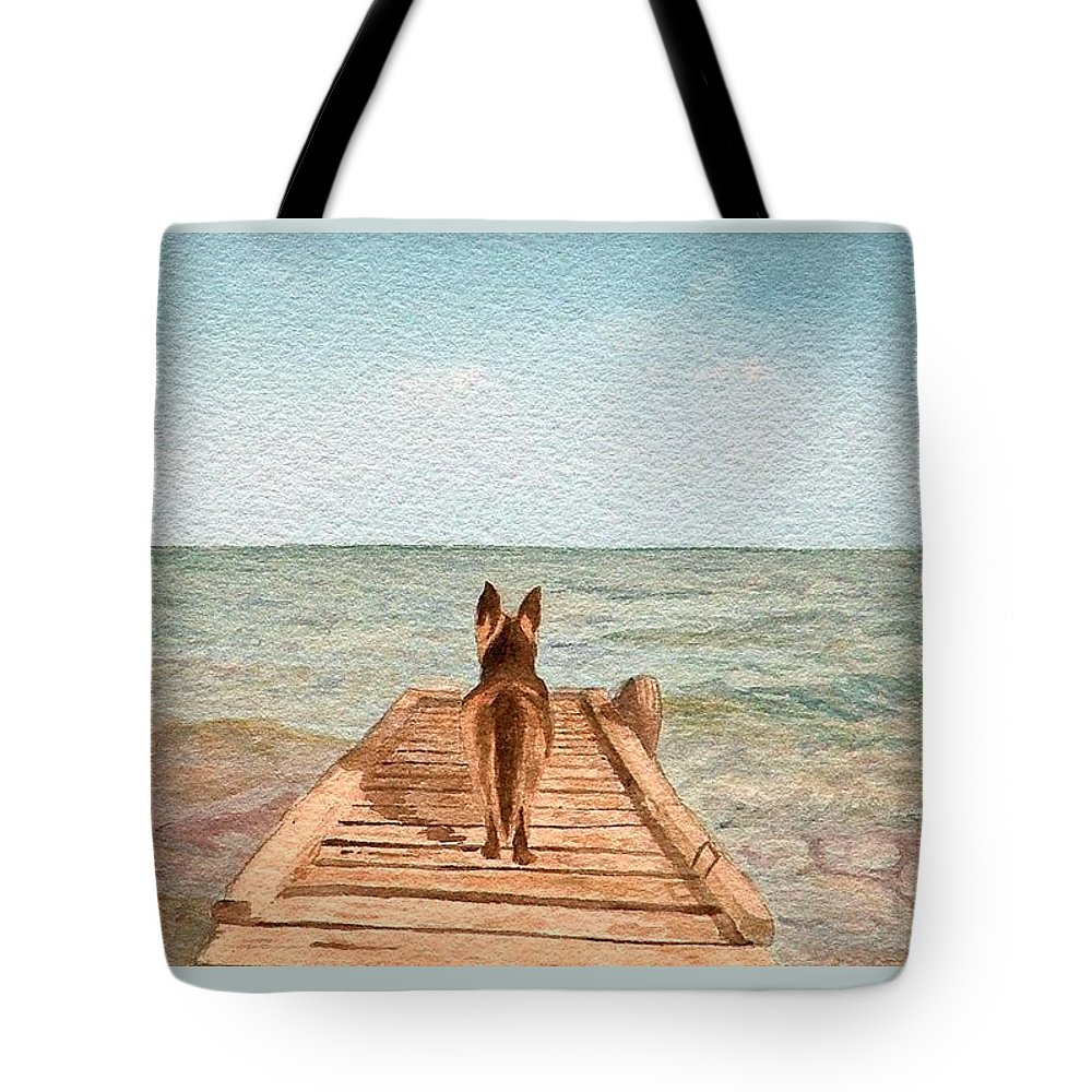 Landscape Tote Bag featuring the painting Companion Horizon by Lynn ACourt