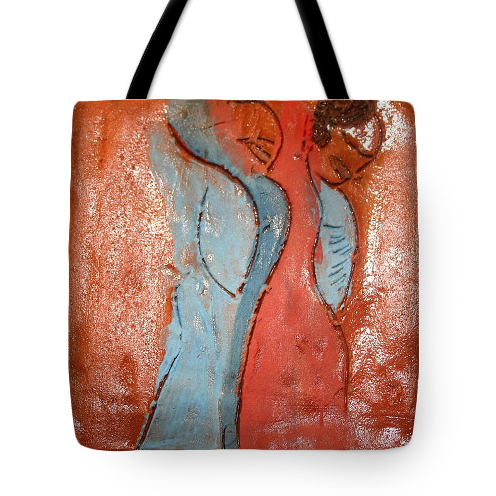 Jesus Tote Bag featuring the ceramic art Company - Tile by Gloria Ssali