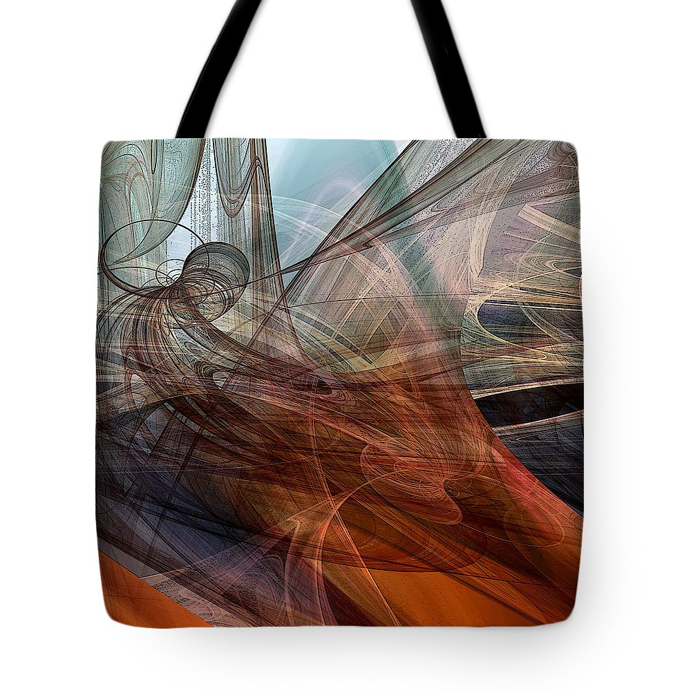 Abstract Tote Bag featuring the digital art Complex Decisions by Ruth Palmer