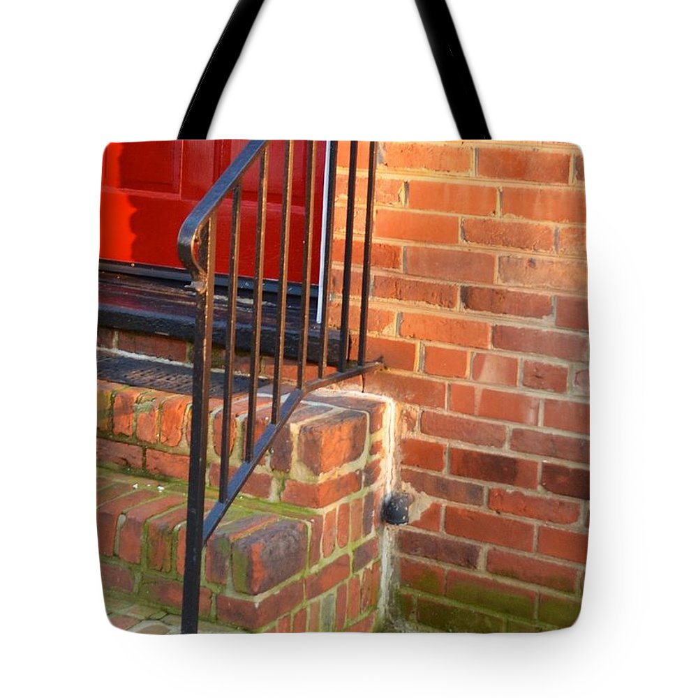 Red Tote Bag featuring the photograph Complimentary Opening by Sharon Wunder Photography
