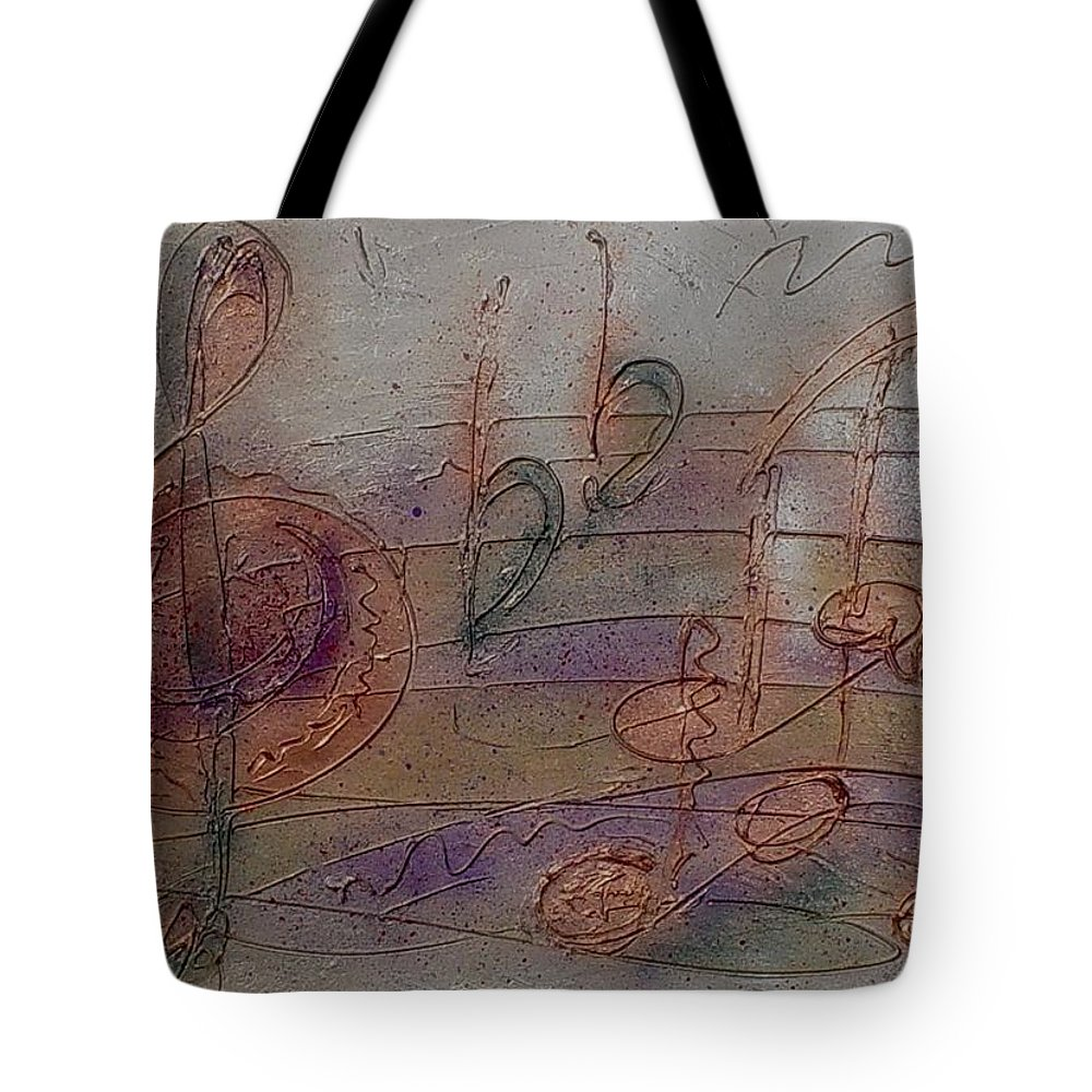 Impressionist Tote Bag featuring the painting Composition In B Flat by Anita Burgermeister