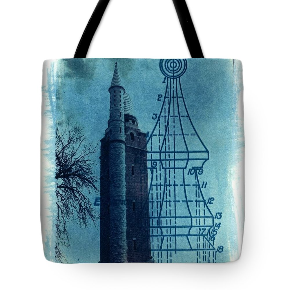 Alternative Process Photography Tote Bag featuring the photograph Compton Blueprint by Jane Linders