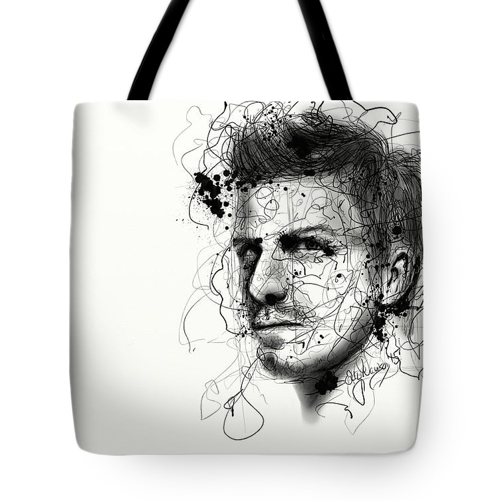 Abstract Tote Bag featuring the digital art Concentration by Ellen Dawson
