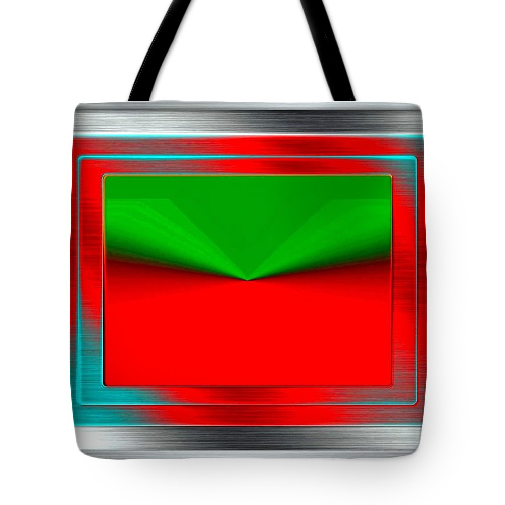 Abstract Tote Bag featuring the digital art Conceptual 12 by Will Borden