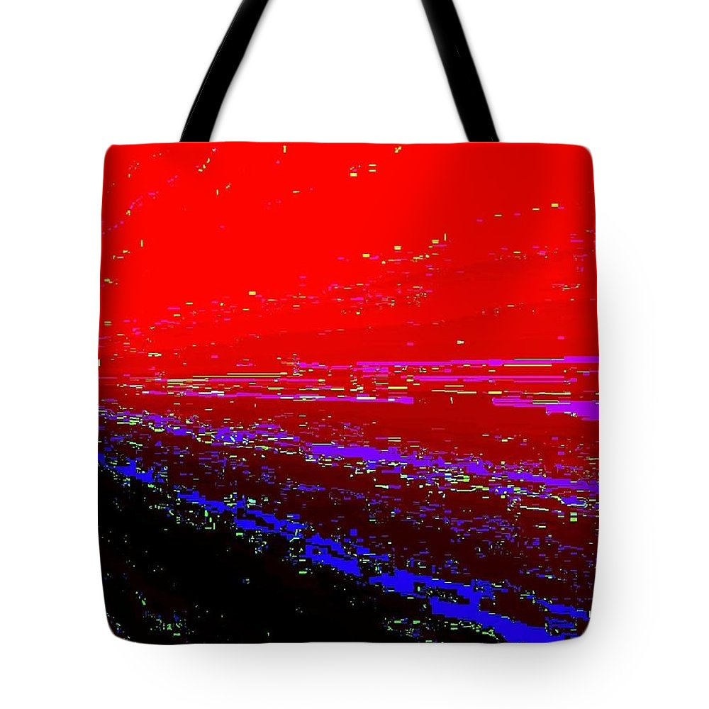 Abstract Tote Bag featuring the digital art Conceptual 13 by Will Borden