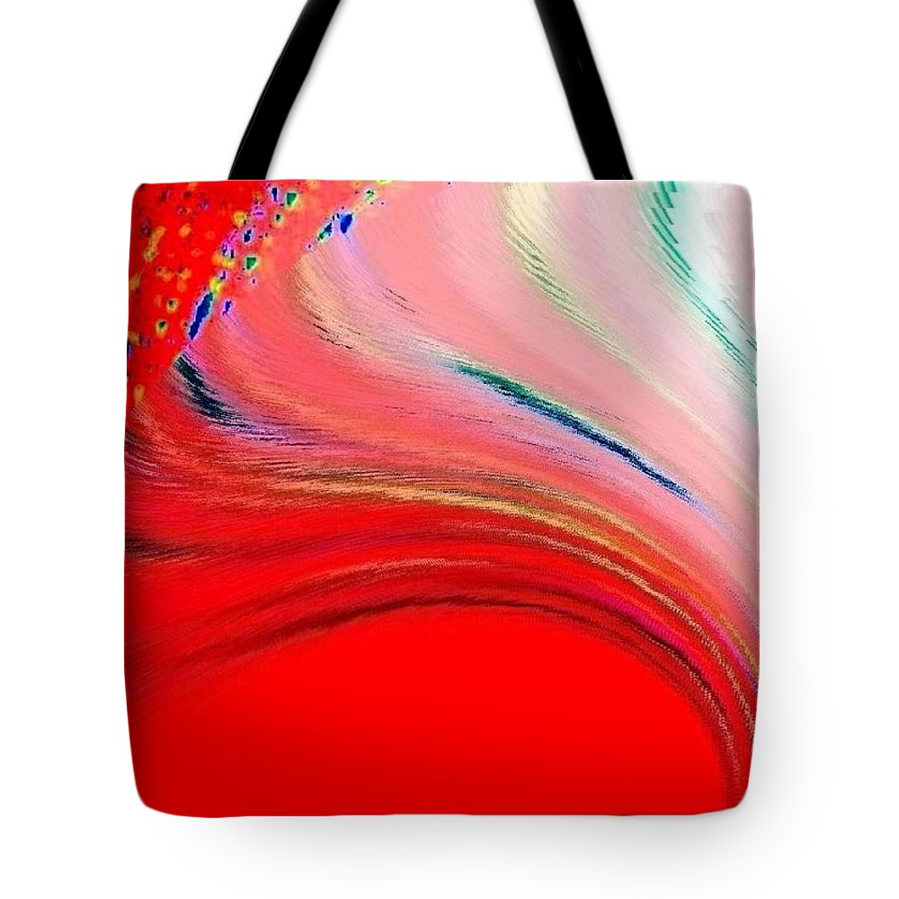 Abstract Tote Bag featuring the digital art Conceptual 6 by Will Borden