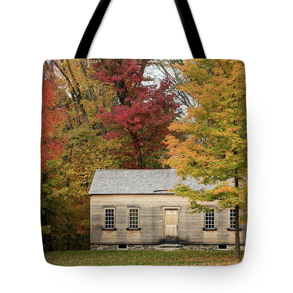 New England Fall Foliage Tote Bag featuring the photograph Concords Robbins Farm by Jeff Folger