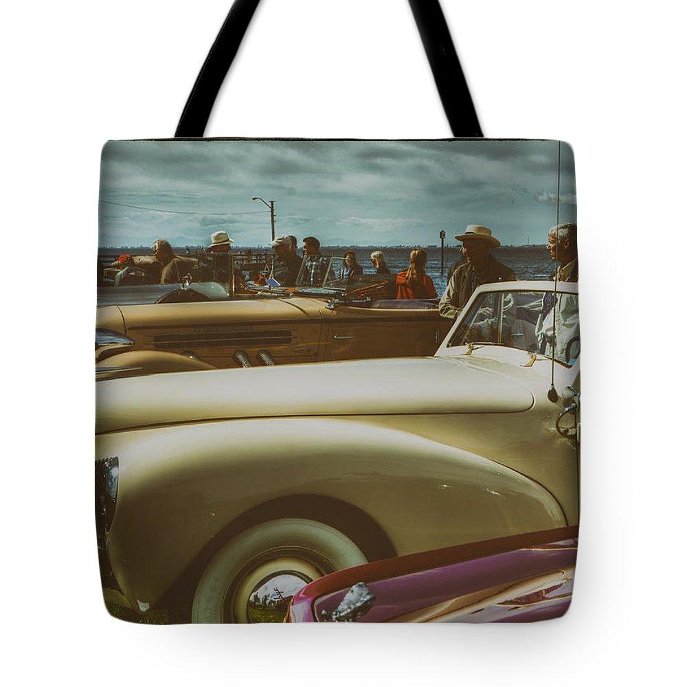 Vintage Automobile Tote Bag featuring the photograph Concours Vintage Car Show by Doug Matthews