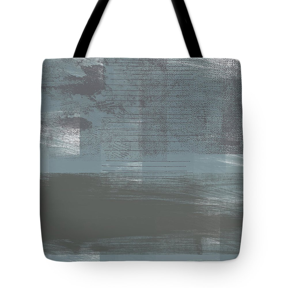 Concrete Tote Bag featuring the painting Concrete 1- Contemporary Abstract Art by Linda Woods by Linda Woods