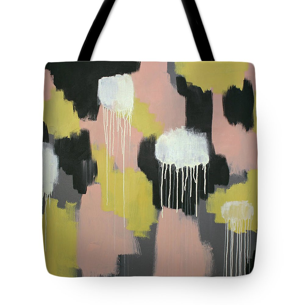 Pink Tote Bag featuring the painting Concrete And Lemonade 1 by Rebecca Danger