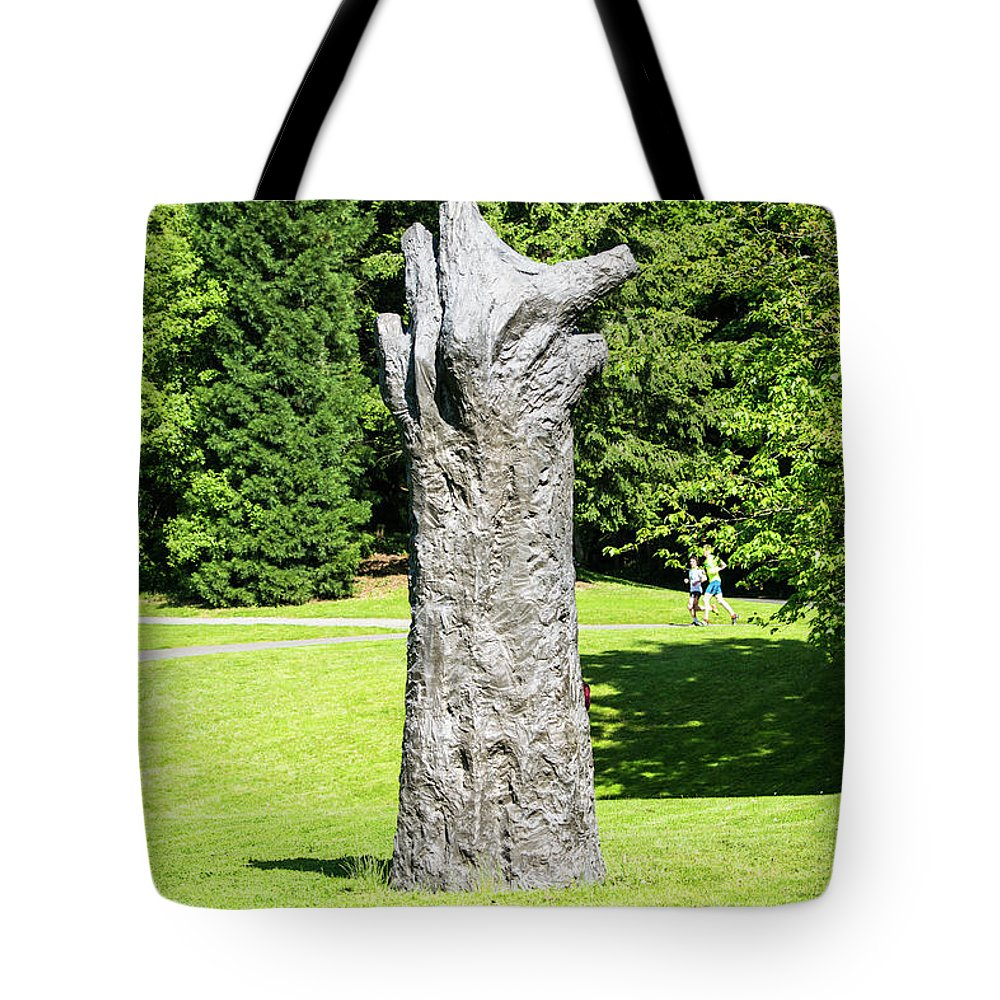 Concrete Tree On Campus Tote Bag featuring the photograph Concrete Tree On Campus by Tom Cochran