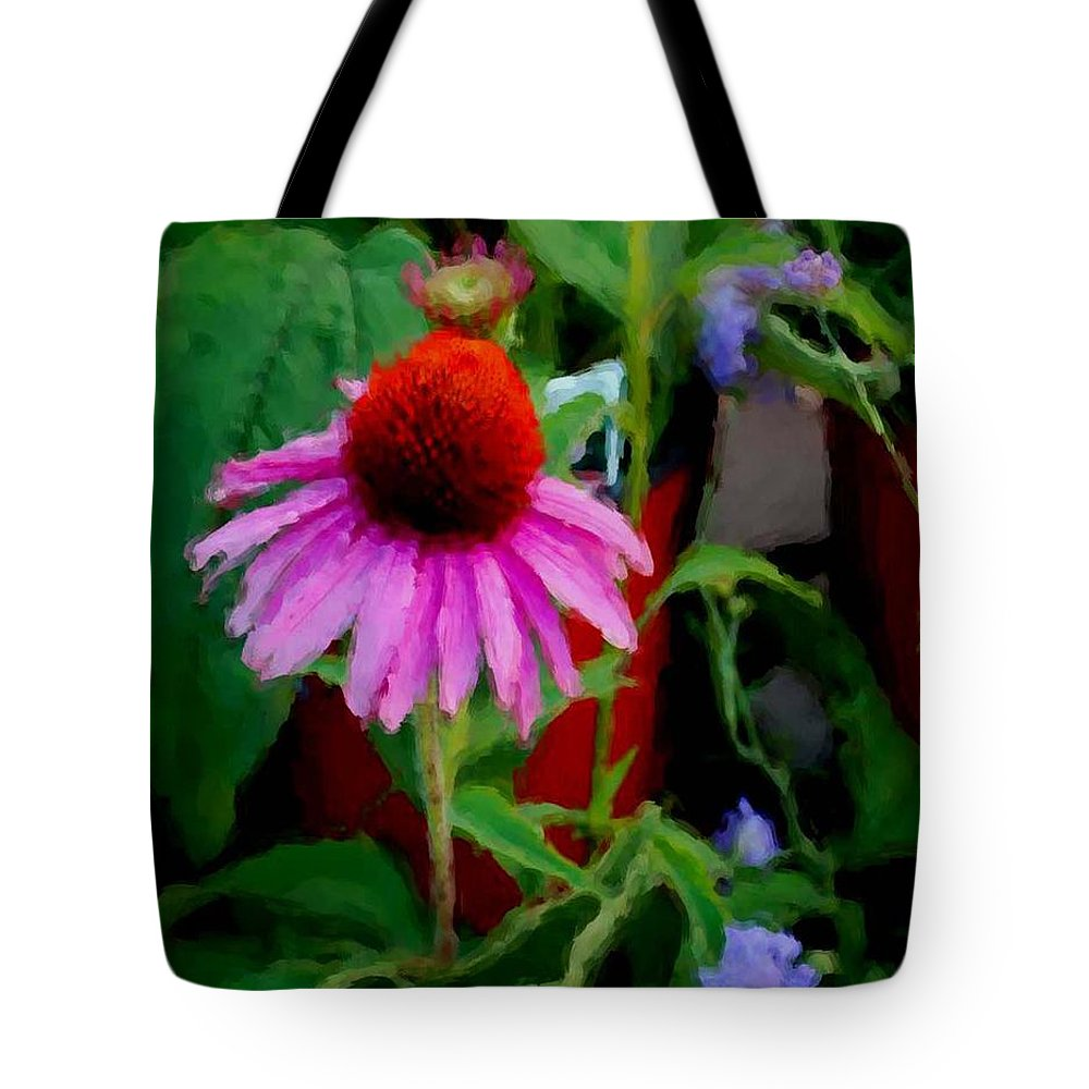 Sunflowers Tote Bag featuring the painting Coneflower by Michael Thomas