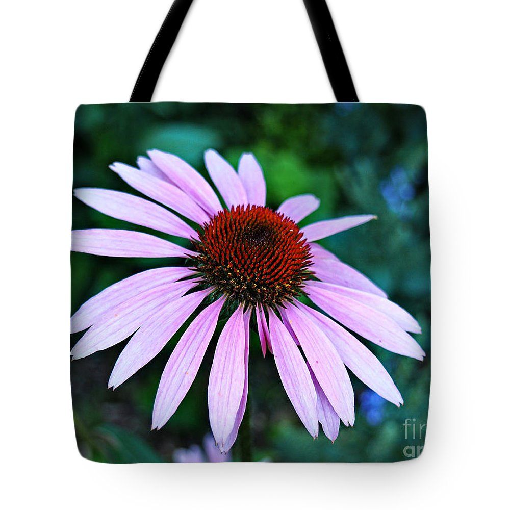 Flower Tote Bag featuring the photograph Coneflower Portrait by Gary Richards