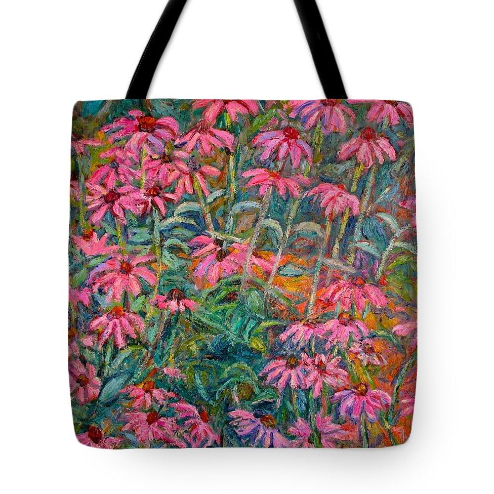 Kendall Kessler Tote Bag featuring the painting Coneflowers by Kendall Kessler