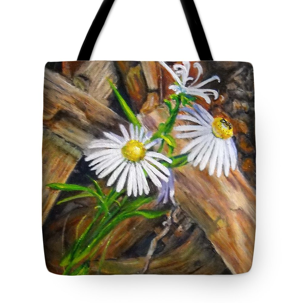 Flower Still Life Tote Bag featuring the painting Coneflowers by Olga Kaczmar