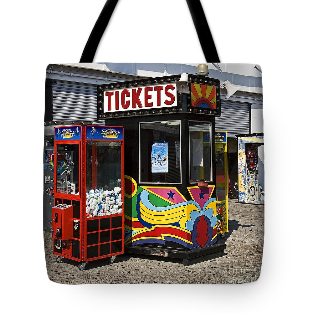 Coney Island Tote Bag featuring the photograph Coney Island Memories 3 by Madeline Ellis