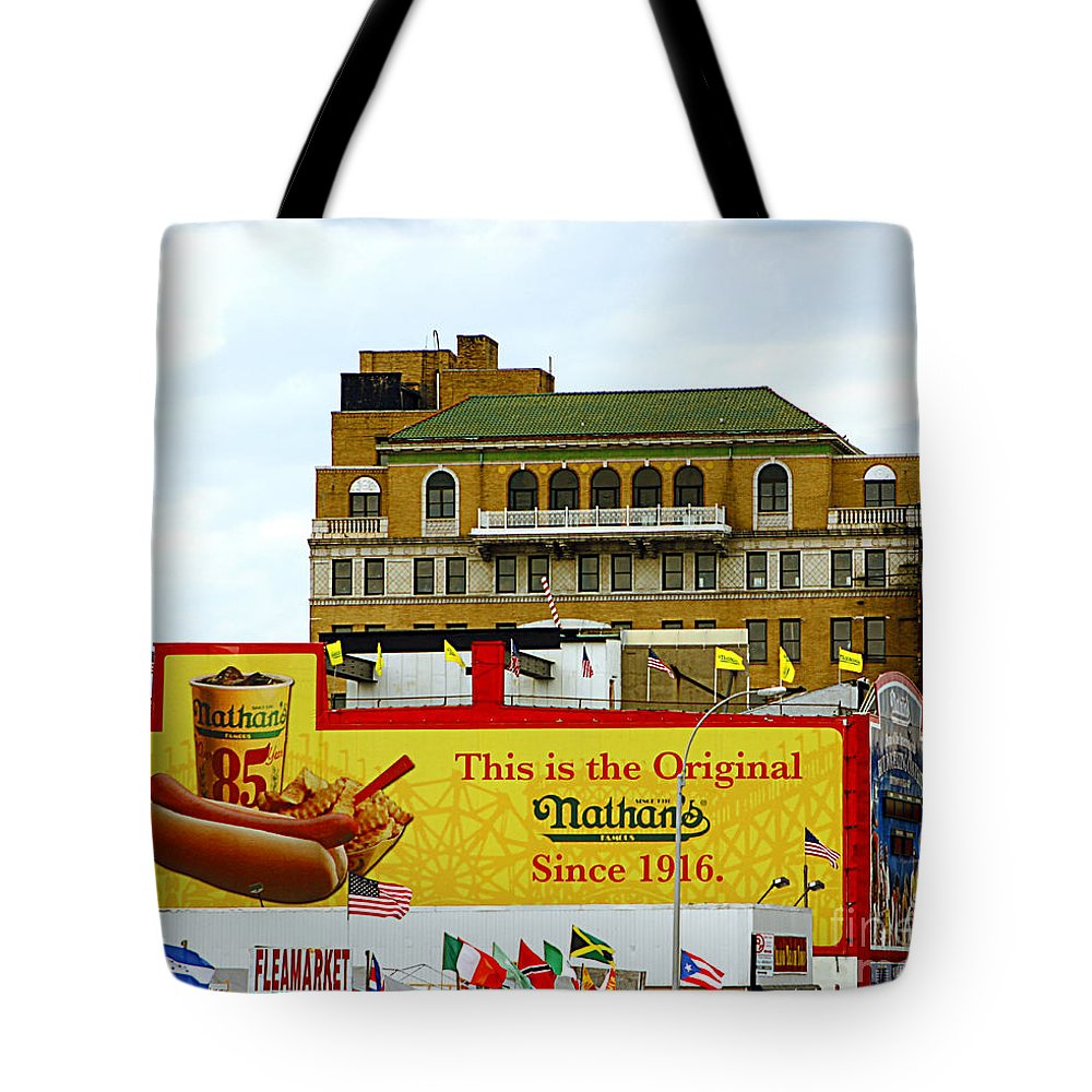 Food Tote Bag featuring the photograph Coney Island Memories 9 by Madeline Ellis