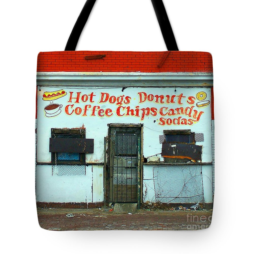 Confectionary Tote Bag featuring the photograph Confectionery by Albert Stewart