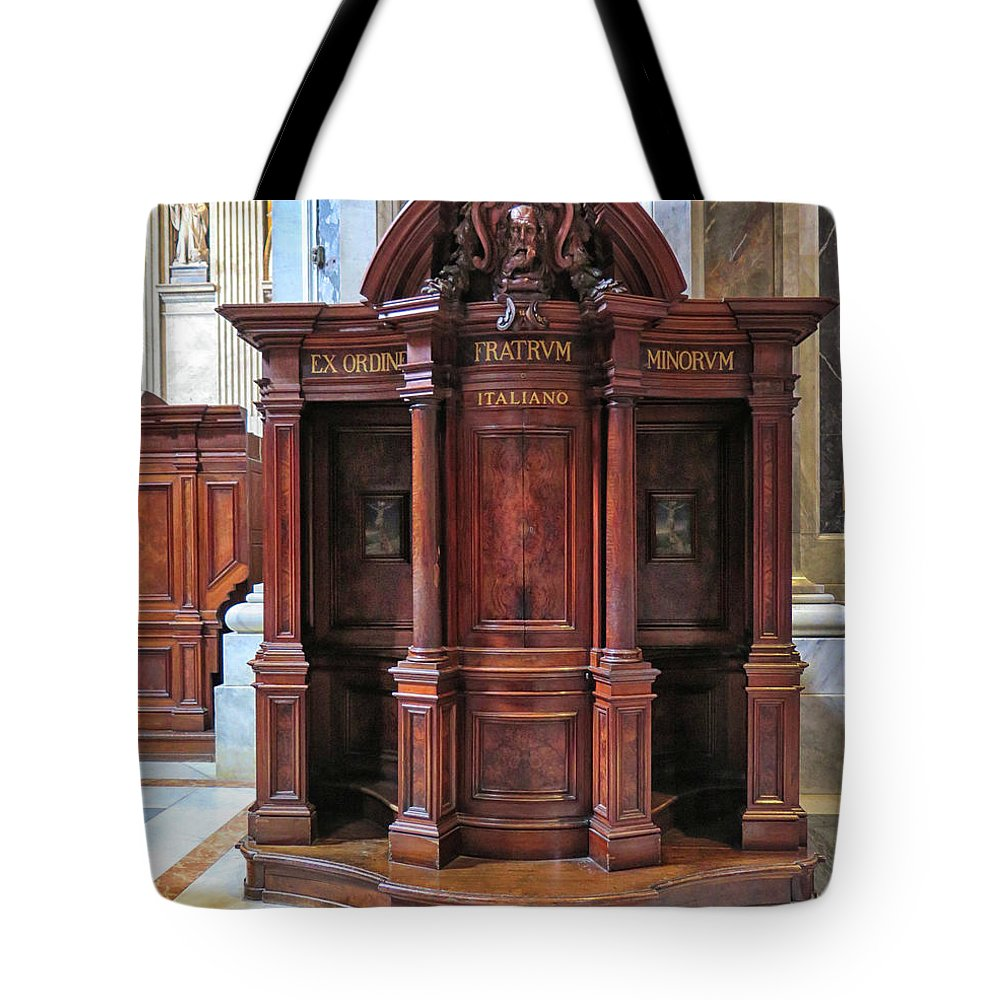 Confessional Tote Bag featuring the photograph Confessional by Dave Mills