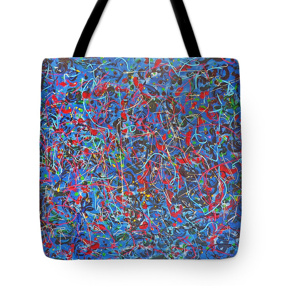 Abstract Tote Bag featuring the painting Confetti by Ericka Herazo