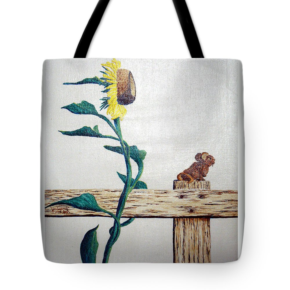 Still Life Tote Bag featuring the painting Confluence by A Robert Malcom
