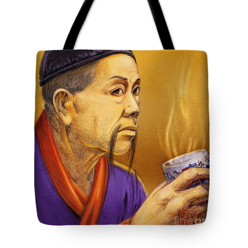 Oriental Tote Bag featuring the painting Confucian Sage by Melissa A Benson