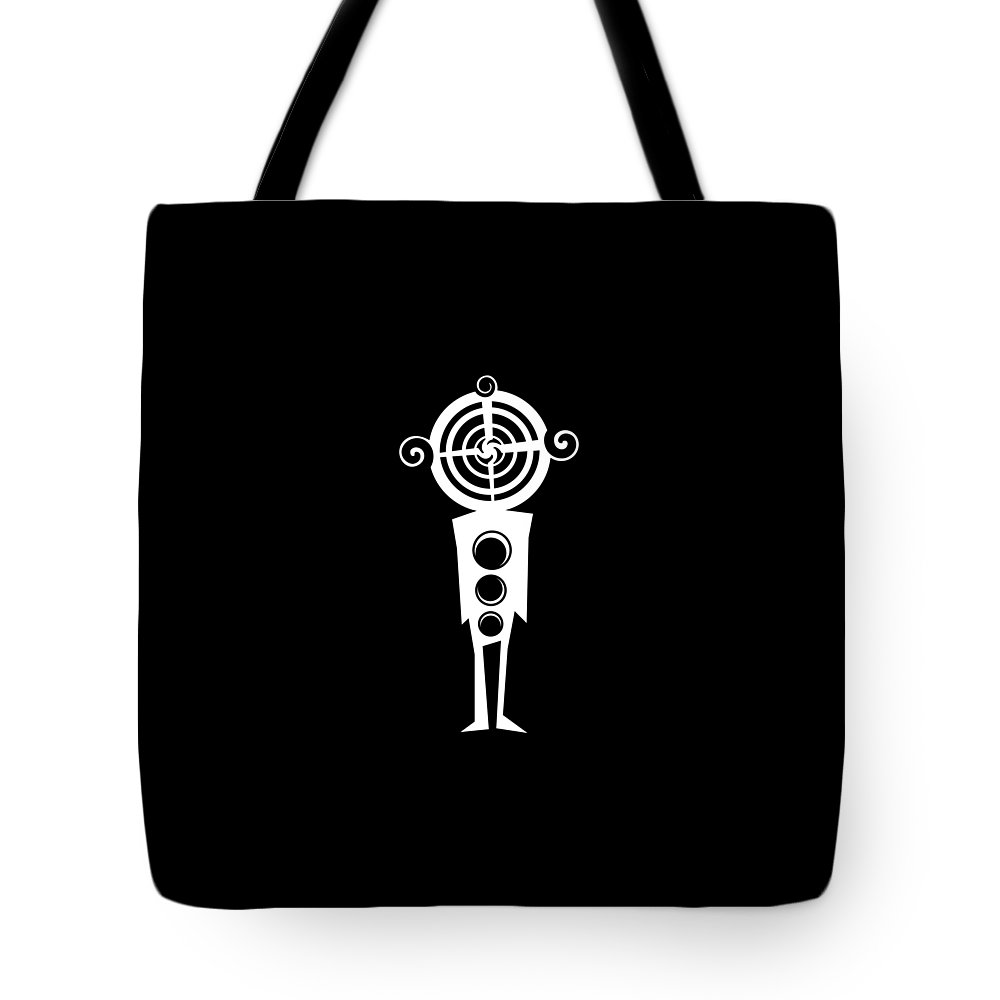 Brand Tote Bag featuring the digital art Confusing -black by Jay Ishak