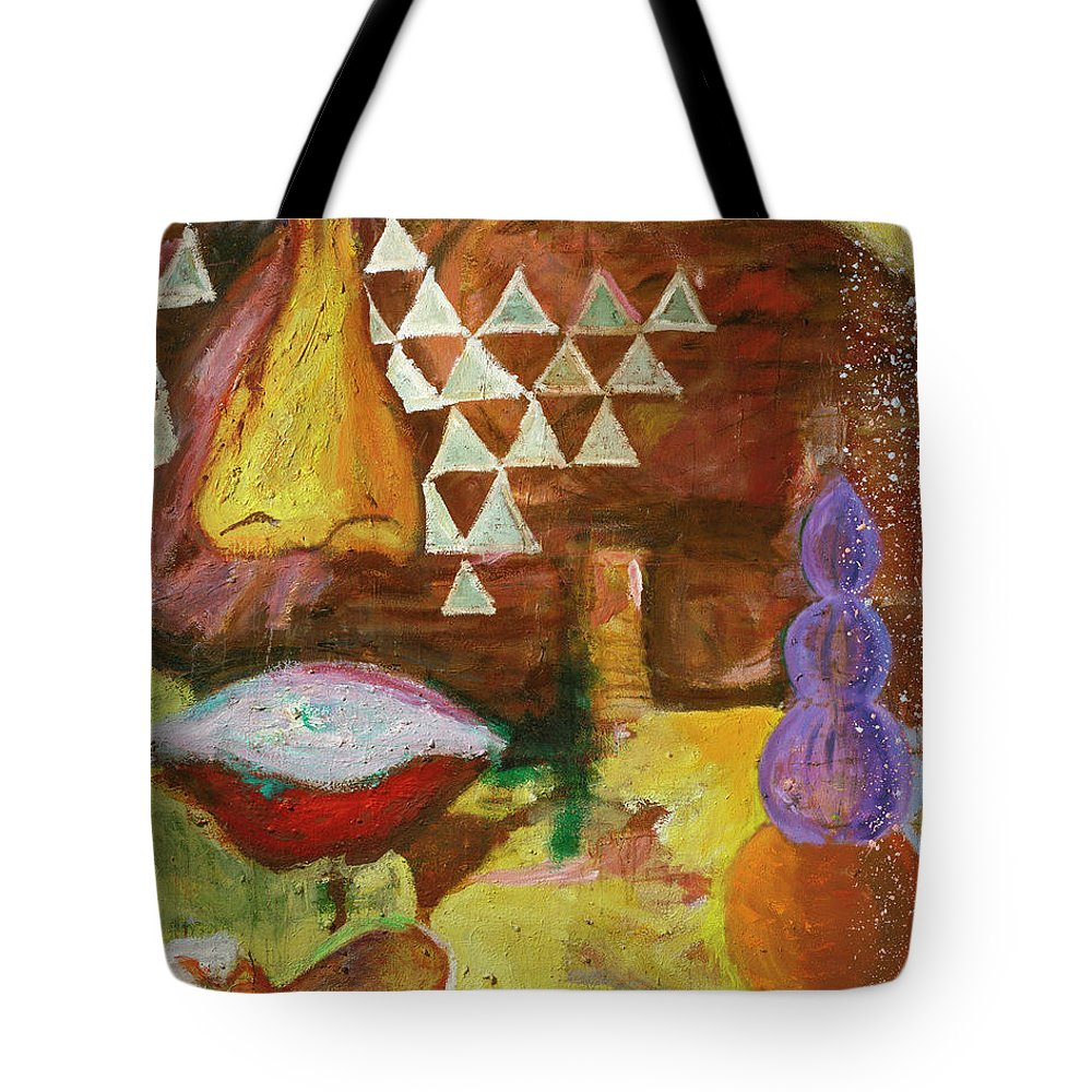 Lips Tote Bag featuring the painting Congo by Regina Gately