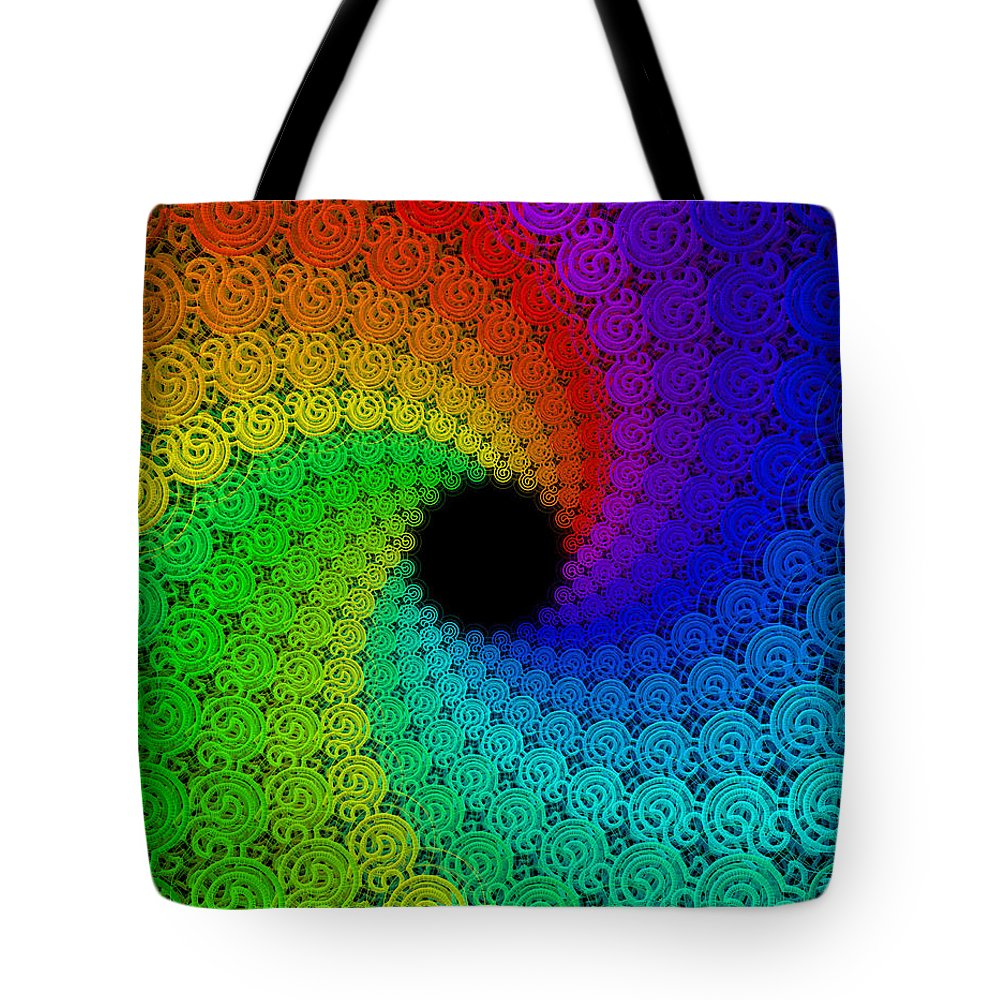 Abstract Tote Bag featuring the digital art Congregation by Shawn McCoy