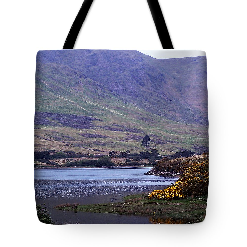 Landscape Tote Bag featuring the photograph Connemara Leenane Ireland by Teresa Mucha