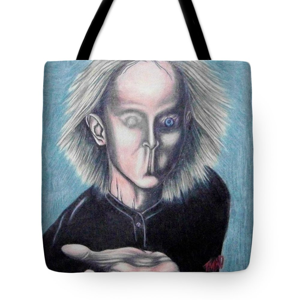 Tmad Tote Bag featuring the drawing Consciousness by Michael TMAD Finney