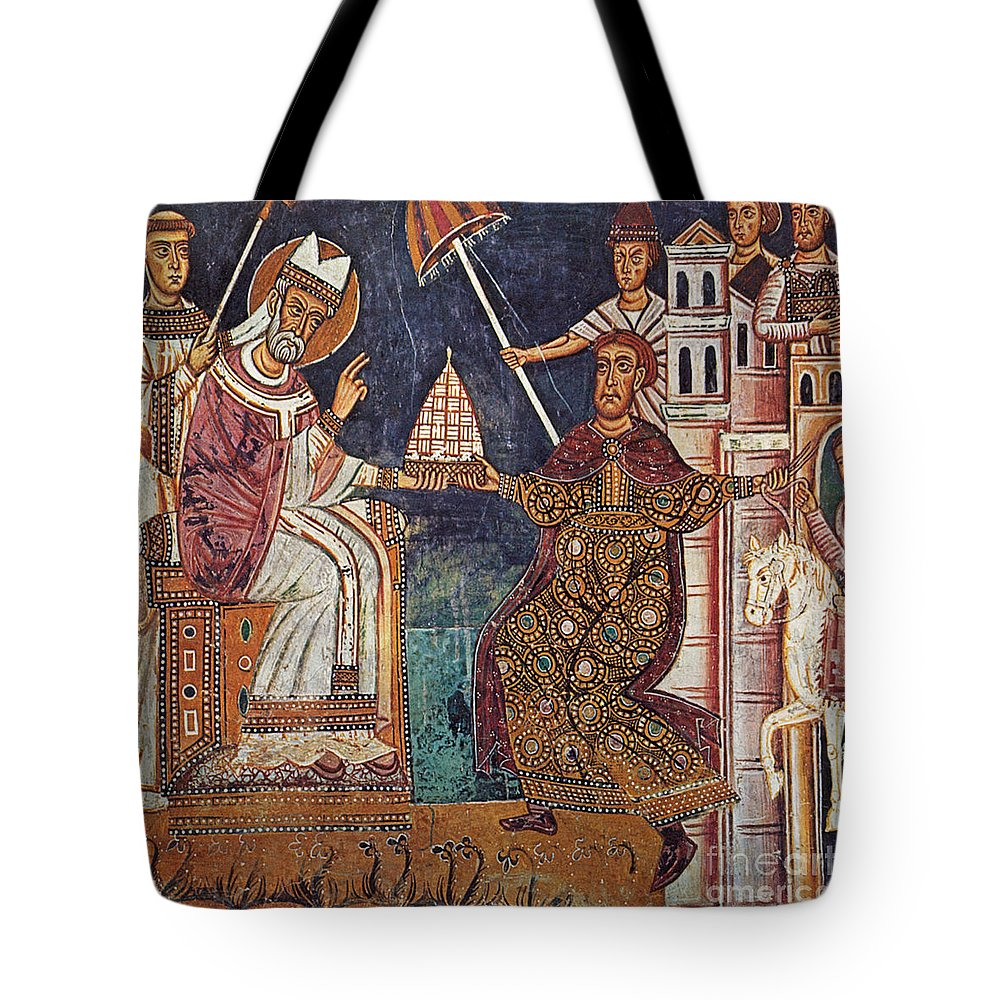 13th Century Tote Bag featuring the painting Constantine I (c280-337) by Granger