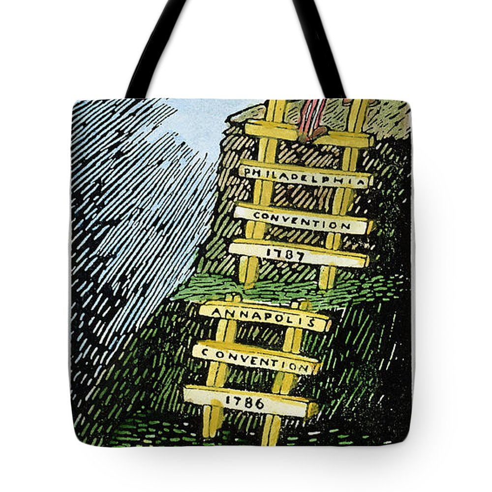 1787 Tote Bag featuring the photograph Constitution Cartoon by Granger