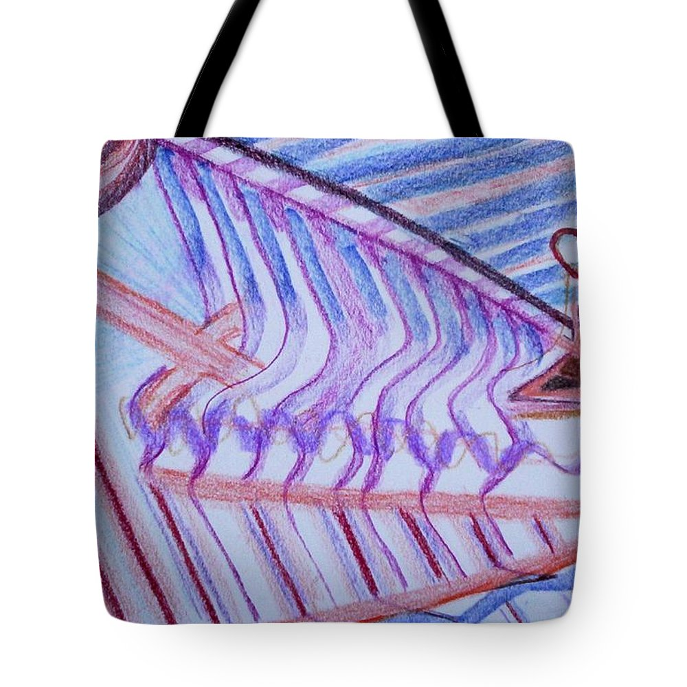 Abstract Tote Bag featuring the painting Construction by Suzanne Udell Levinger