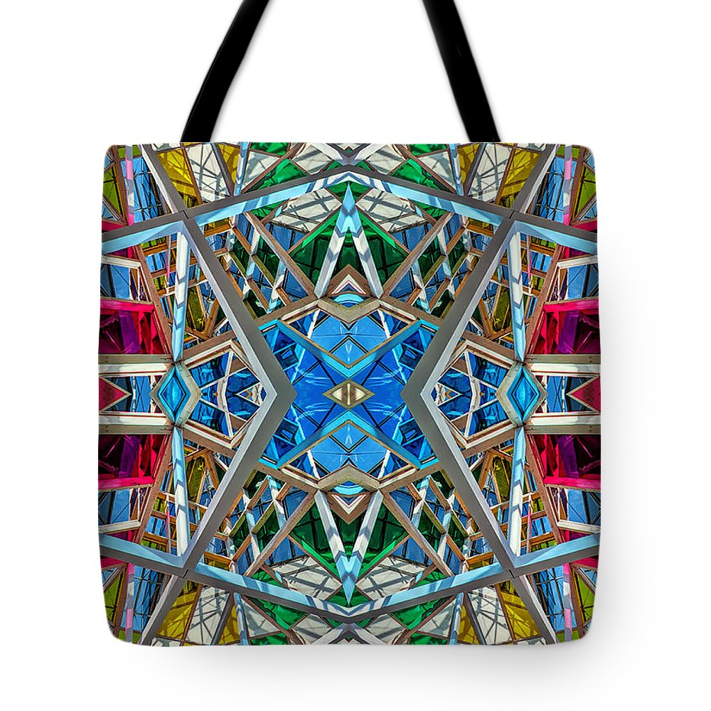 Abstract Tote Bag featuring the photograph Constructurropolis by Nenad Cerovic