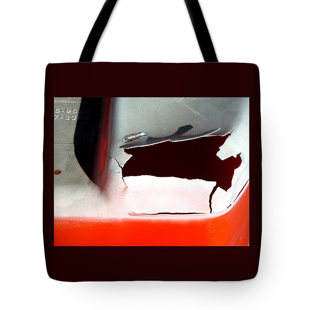 Orange Tote Bag featuring the photograph Construction Barrel by Ross Lewis