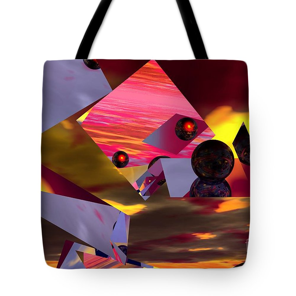 Tote Bag featuring the digital art Contemplating The Multiverse. by David Lane