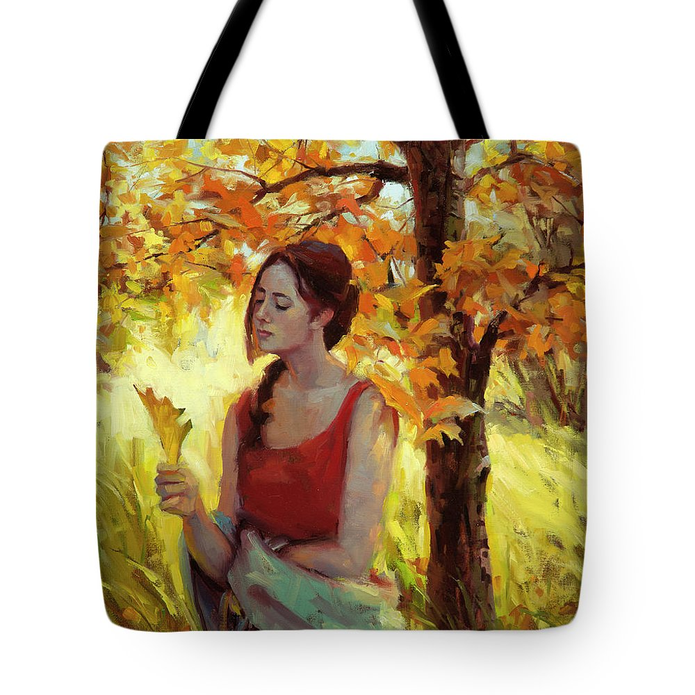 Woman Tote Bag featuring the painting Contemplation by Steve Henderson