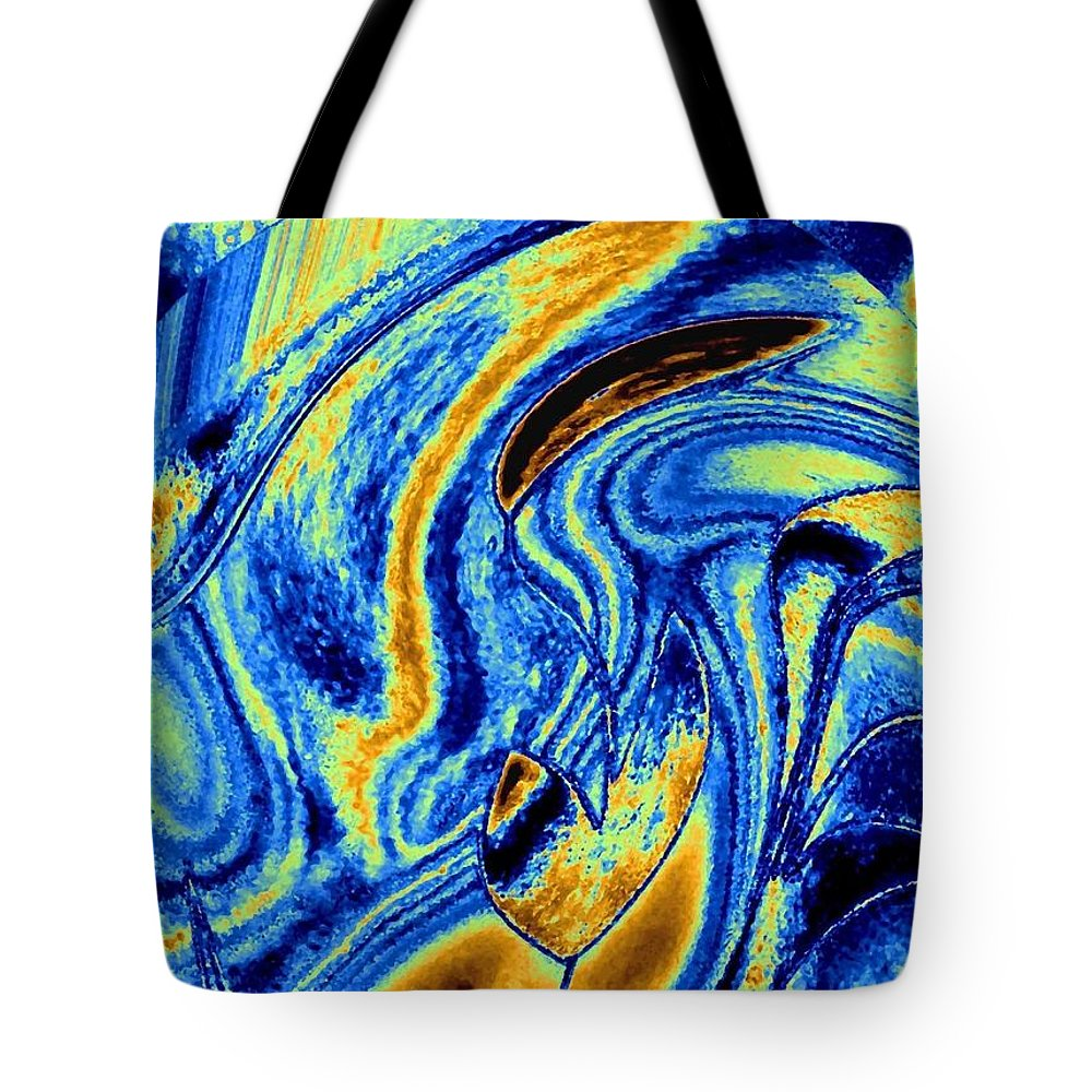 Contemplation Tote Bag featuring the digital art Contemplation by Will Borden