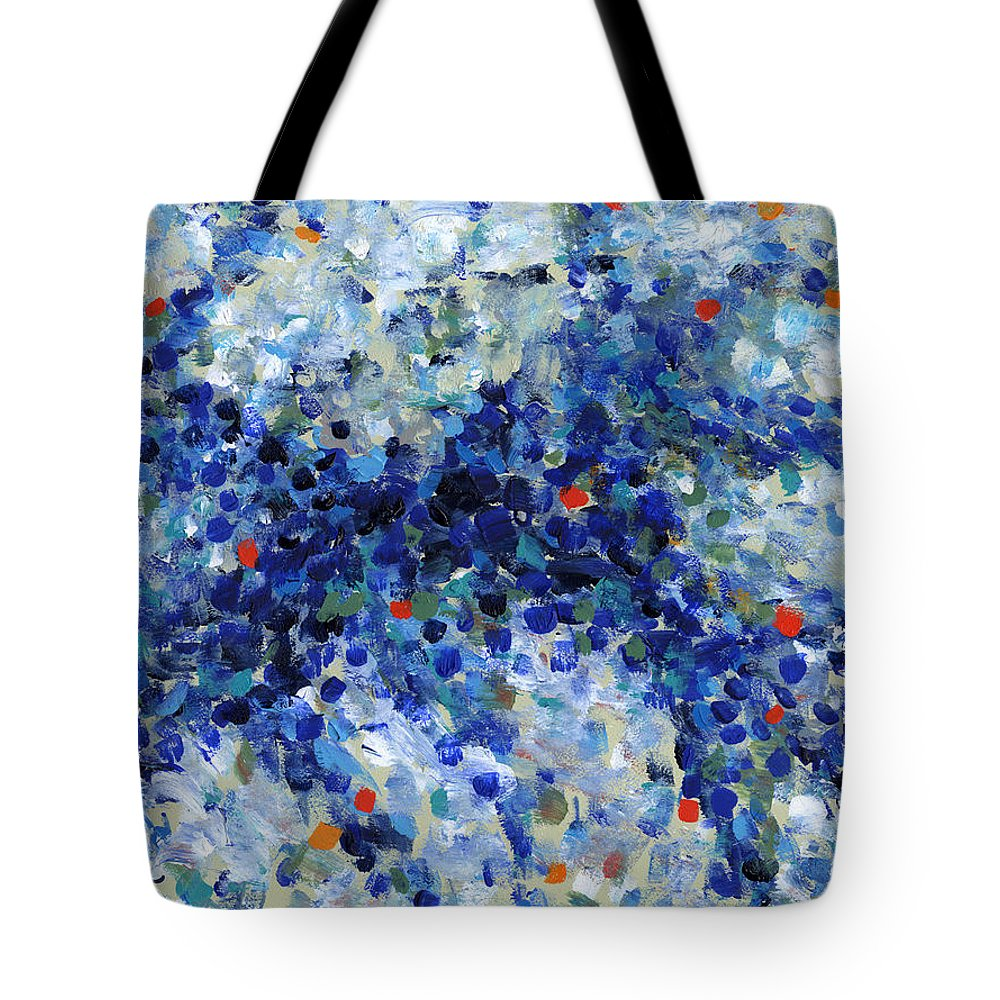 Abstract Tote Bag featuring the painting Contemporary Art Forty-nine by Lynne Taetzsch