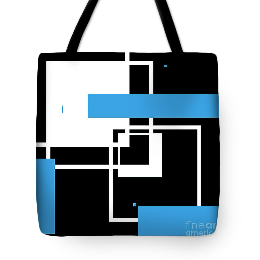 Abstract Tote Bag featuring the digital art Contemporary Design V by Candice Danielle Hughes