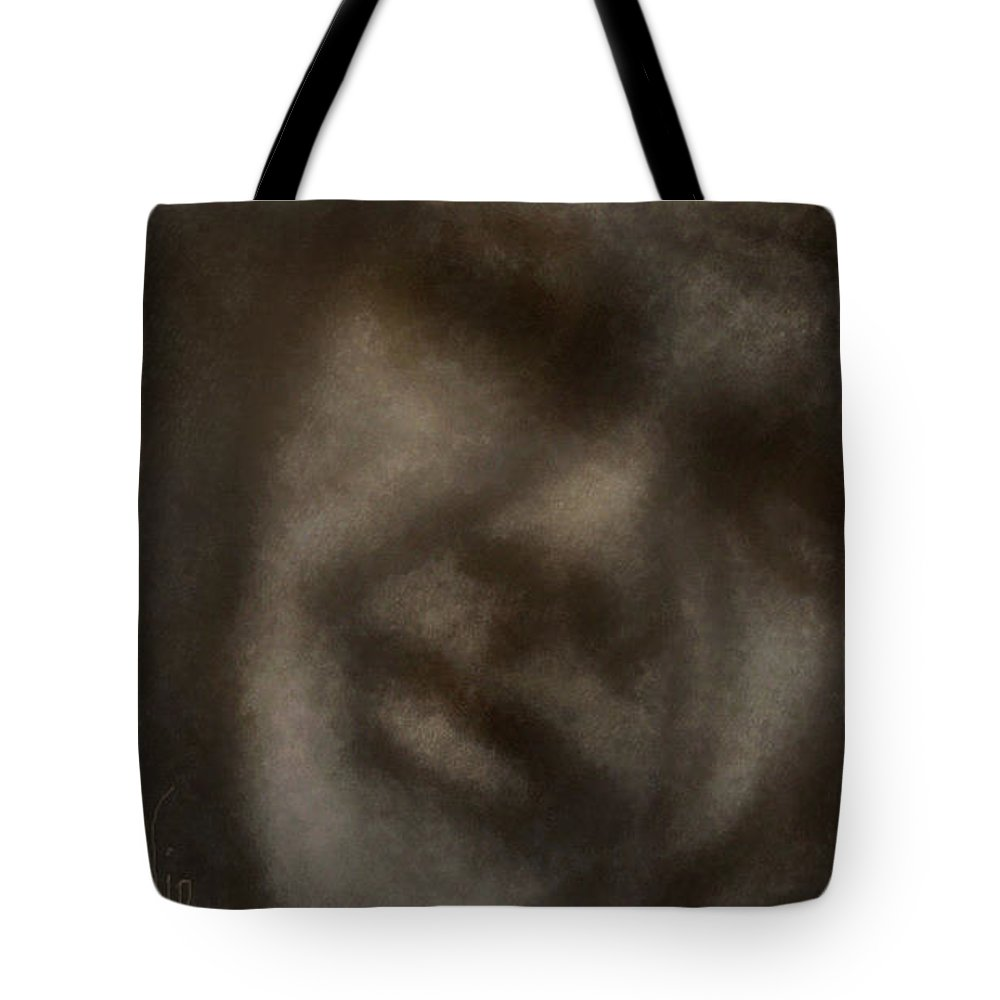 Abstract Tote Bag featuring the digital art Content by Ellen Dawson