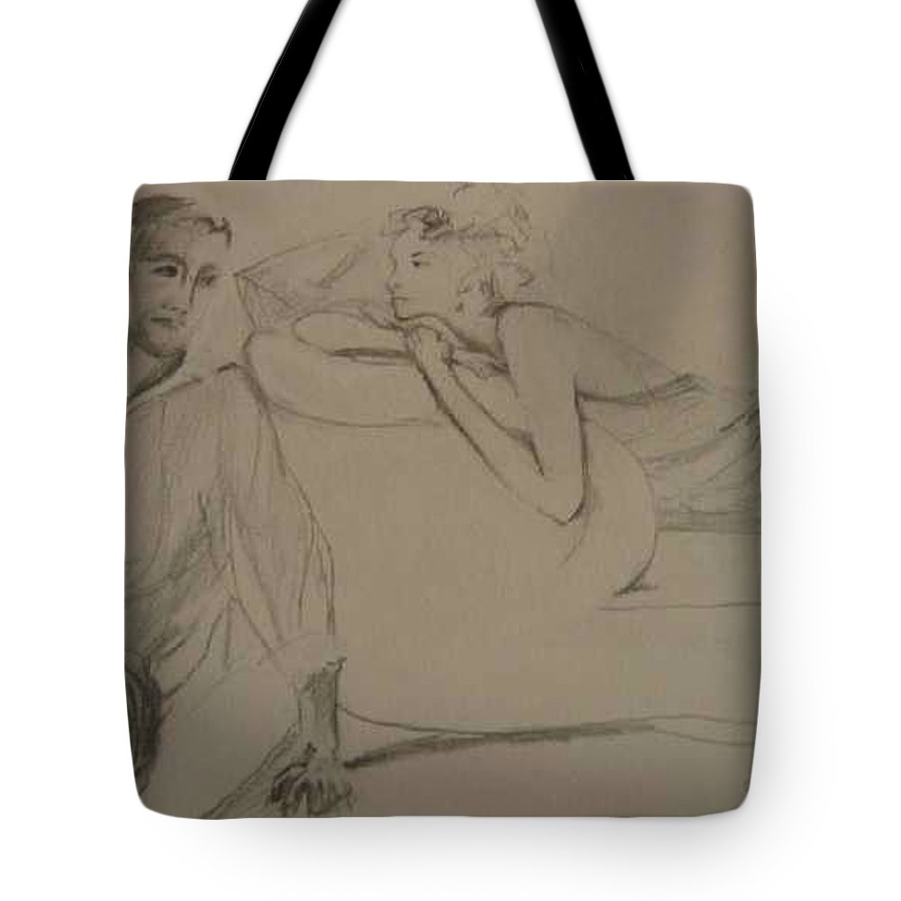 Seduction Tote Bag featuring the painting Contentment by Lizzy Forrester