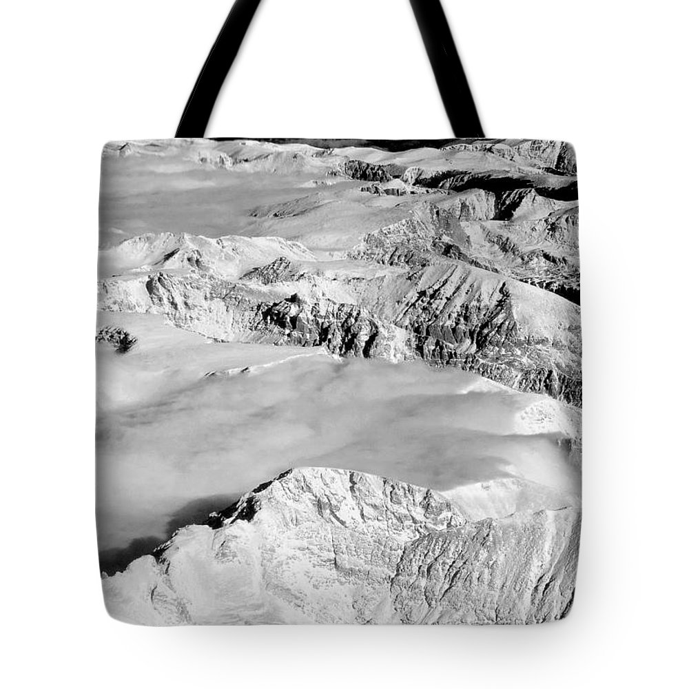 Continental Divide Tote Bag featuring the photograph Continental Divide Clouds Rocky Mountains by James BO Insogna