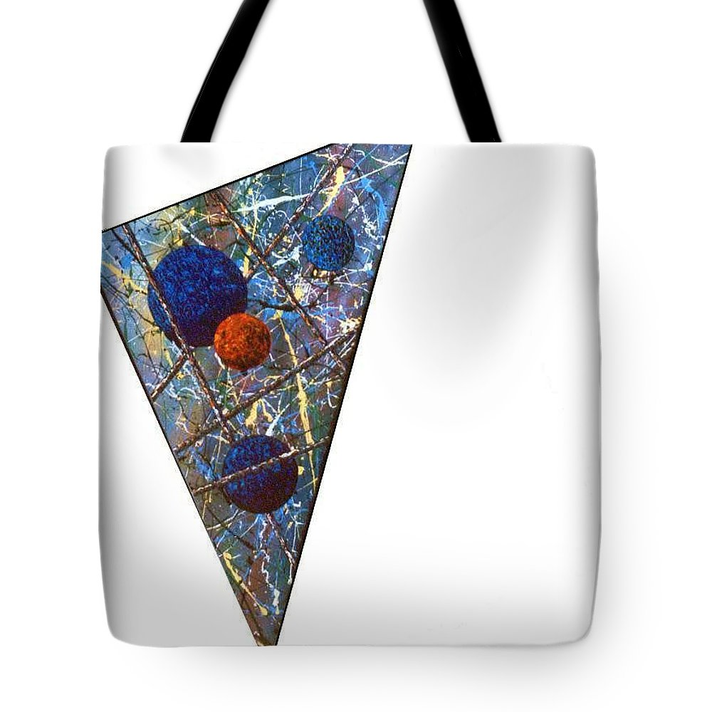 Abstract Tote Bag featuring the painting Continuum 3 by Micah Guenther