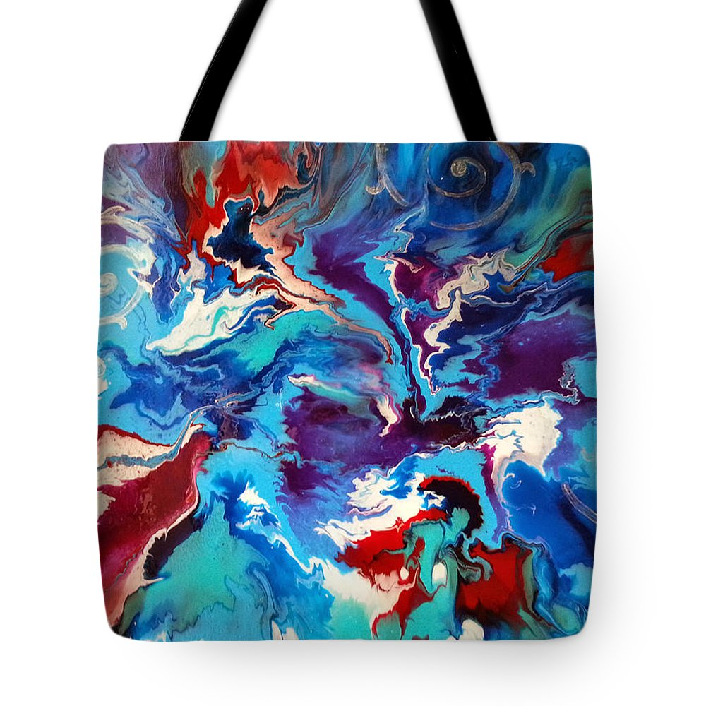 Winds Tote Bag featuring the painting Convergence Of The Four Winds by Michelle Vyn