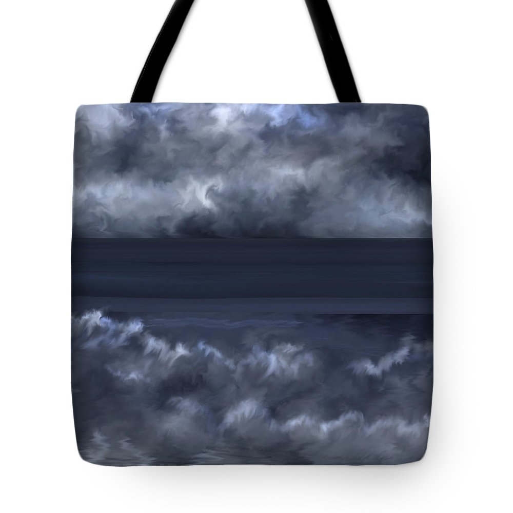 Seascape Tote Bag featuring the painting Convergence Zone by Anne Norskog